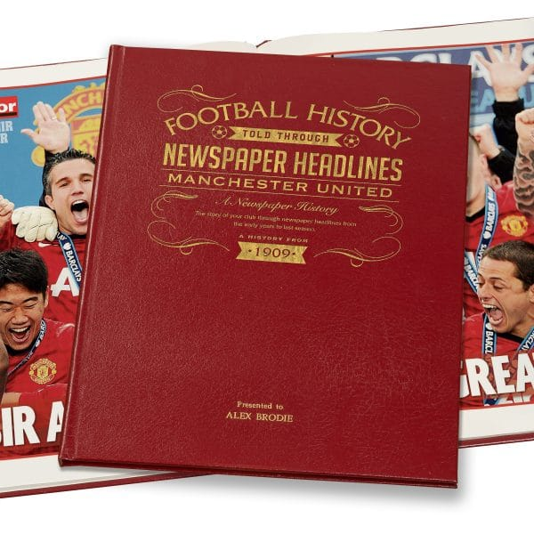 personalised manchester united book