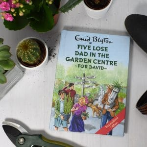five lose dad in the garden centre book