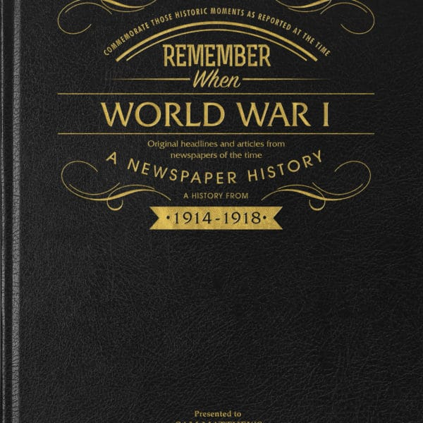 ww1 personalised book