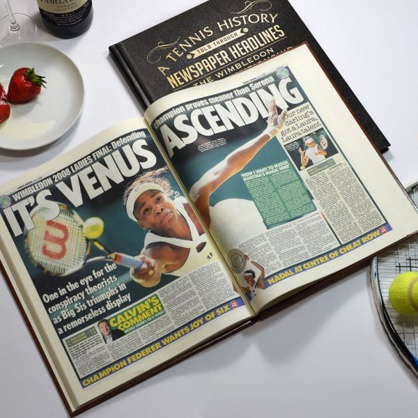 tennis newspaper book