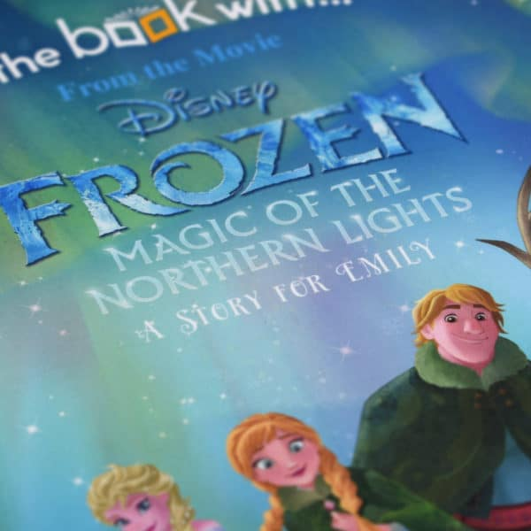personalised frozen northern lights book