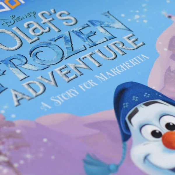 personalised olafs frozen adventure book