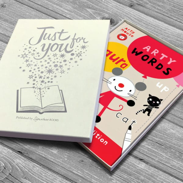 personalised arty words book