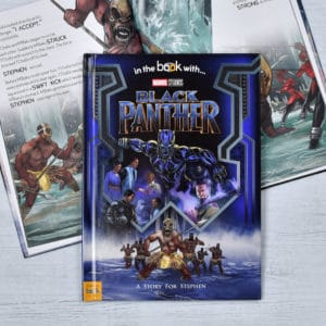 personalised black panther book