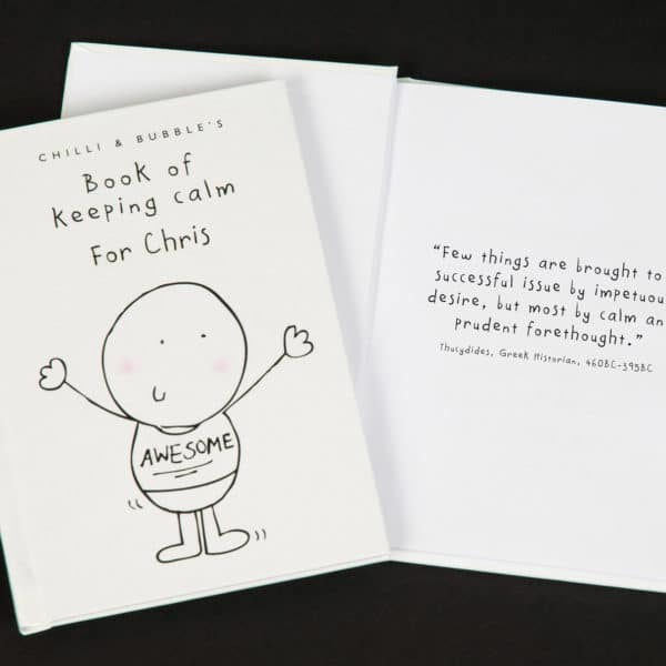 personalised book of keeping calm