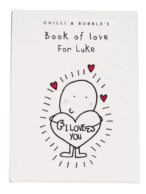 personalised love book
