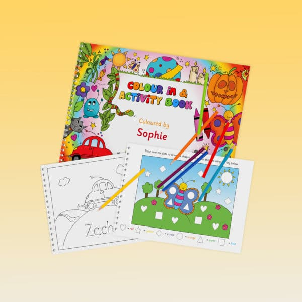colouring activity book