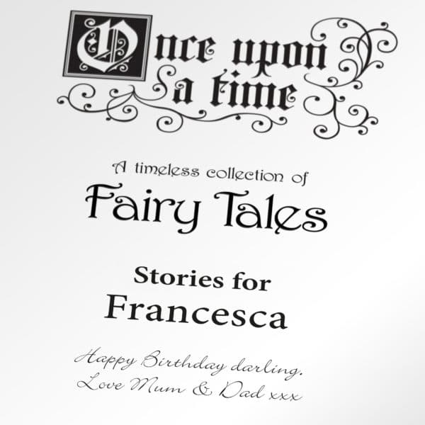 personalised fairy tale book