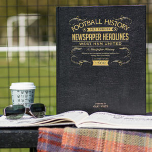 west ham leather football book
