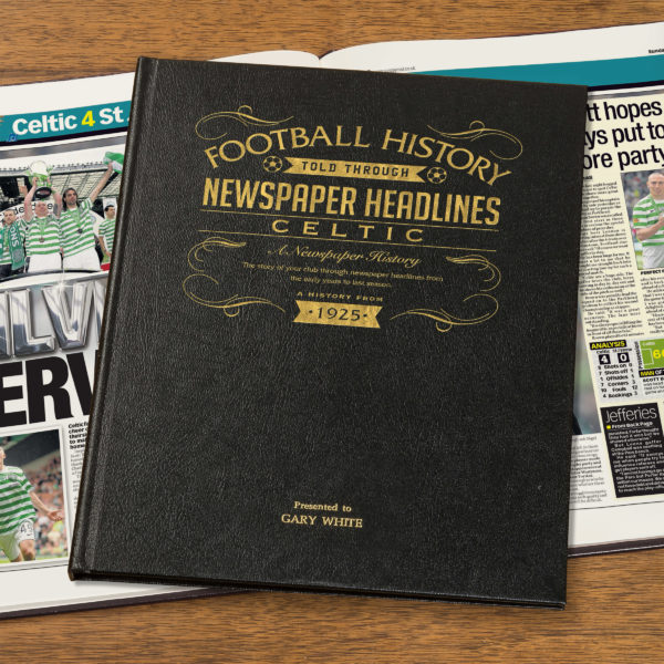 celtic in europe leather football book