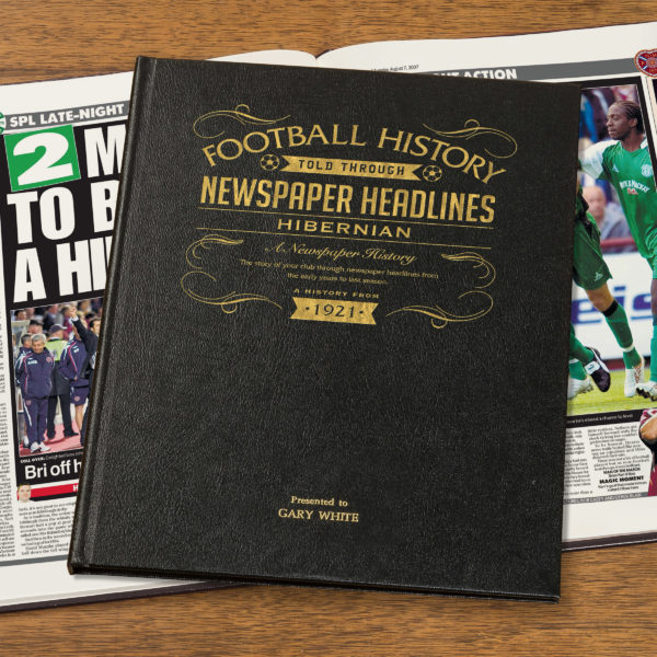 hibs leather football book