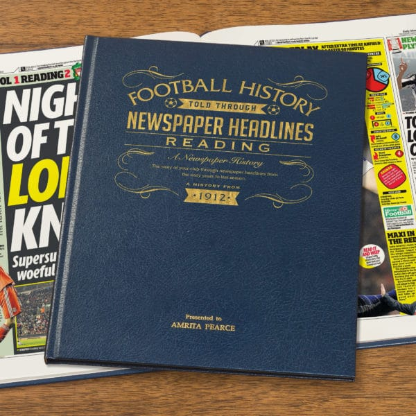 reading leather football book