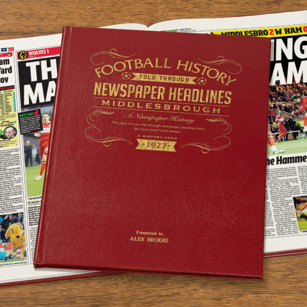 middlesborough leather football book