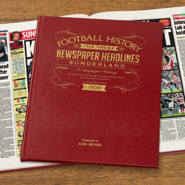 sunderland leather football book