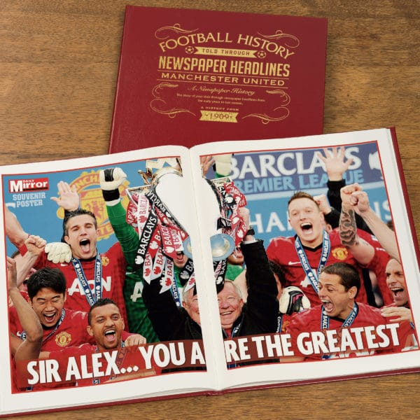 manchester united leather football book