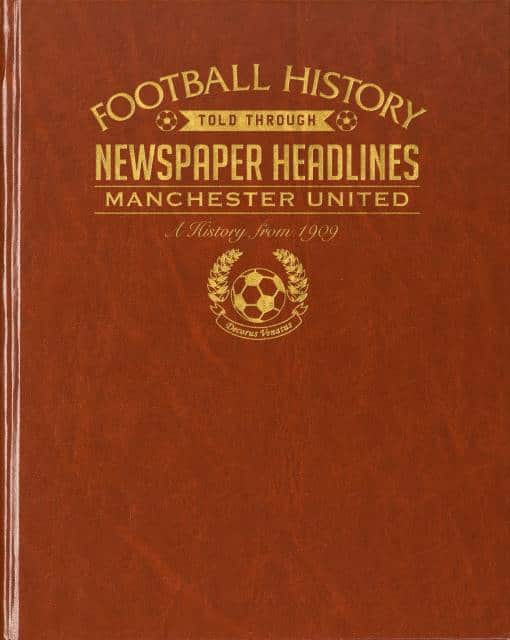 personalised manchester united football history