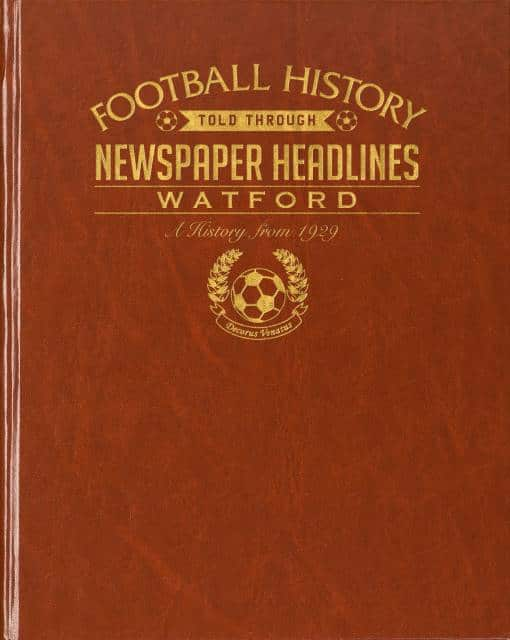 watford leather football book