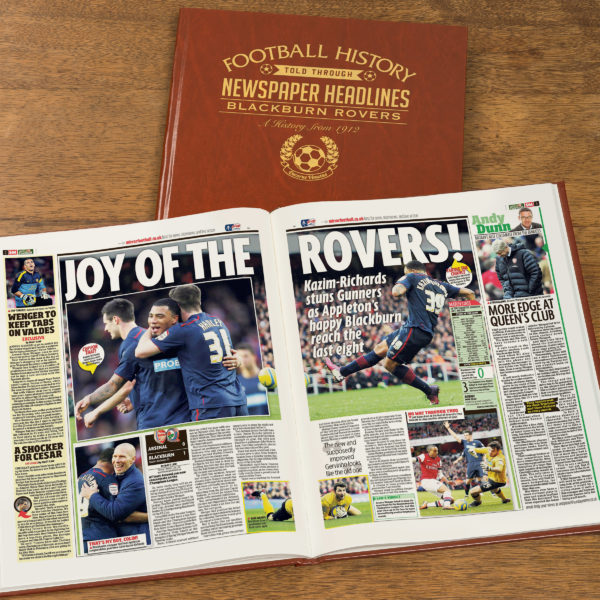 blackburn rovers leather football book