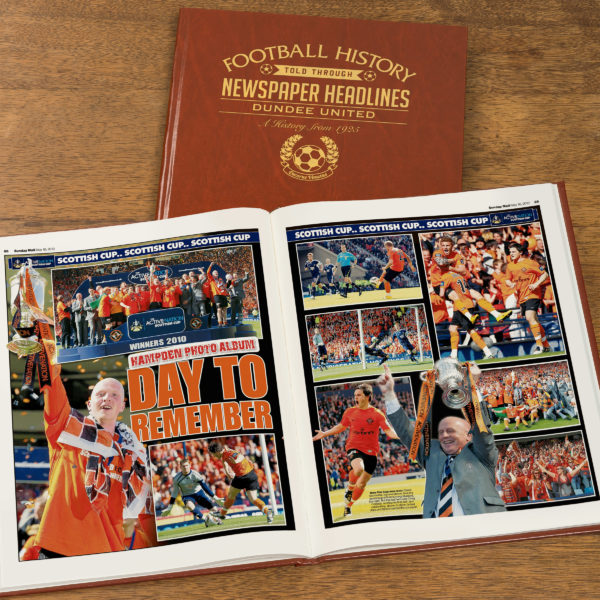 dundee united leather football book