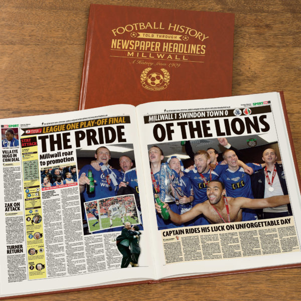 millwall leather football book