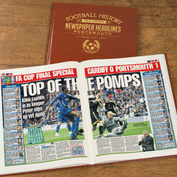 portsmouth leather football book