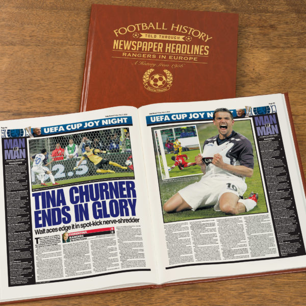 qpr in europe leather football book