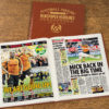 wolves leather football book