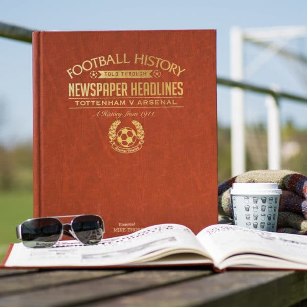 spurs vs arsenal leather football book