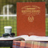 aston villa leather football book