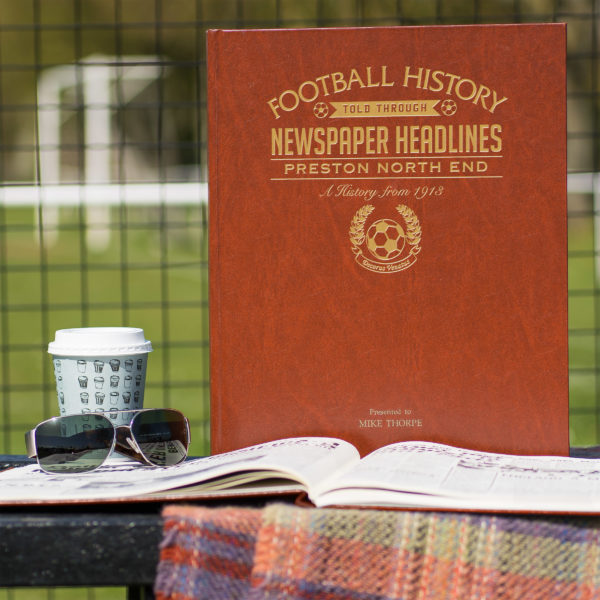 preston north end leather football book