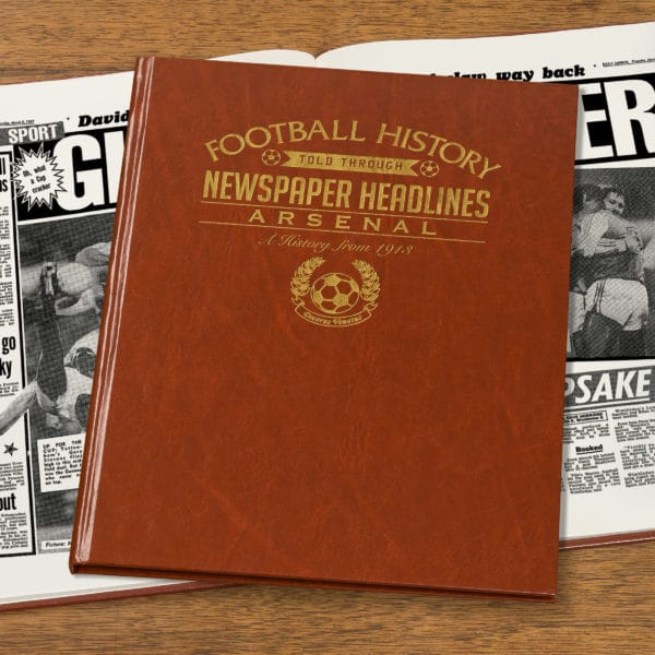 arsenal leather football book