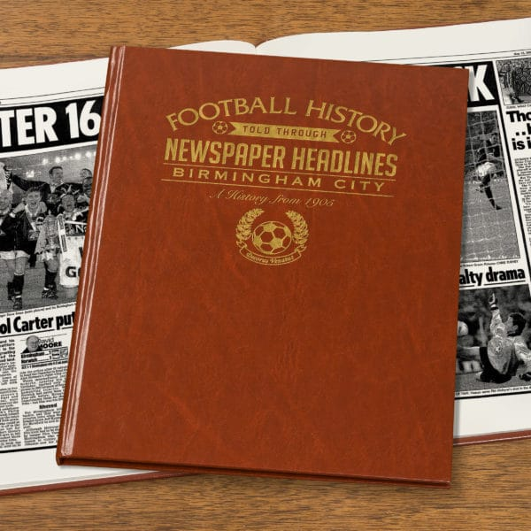 birmingham city leather football book