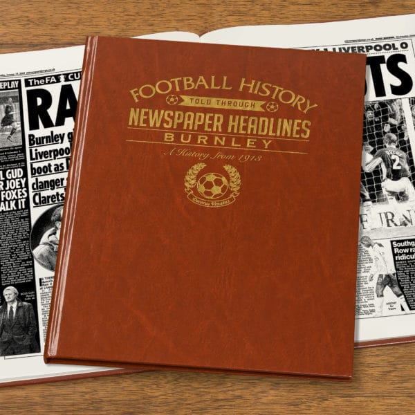 burnley leather football book