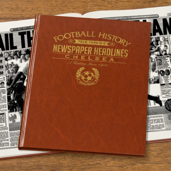 chelsea leather football book