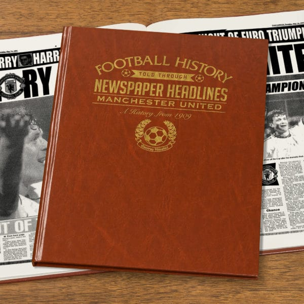 manchester city leather football book