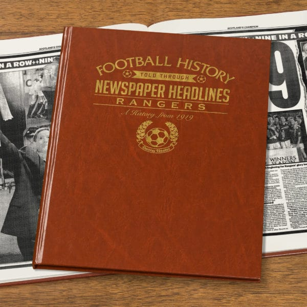 rangers leather football book