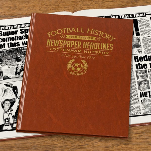 spurs leather football book