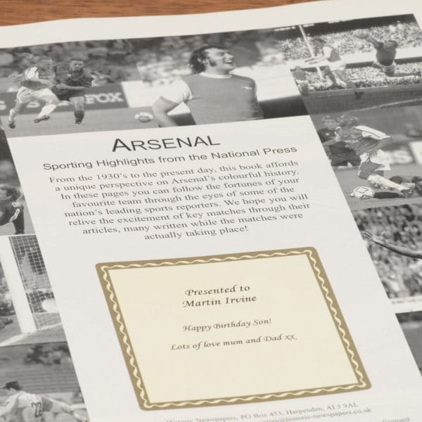 arsenal football book