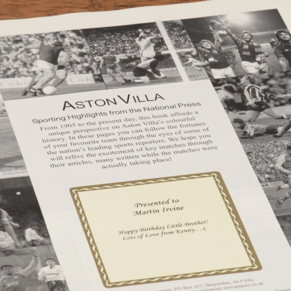 aston villa football book