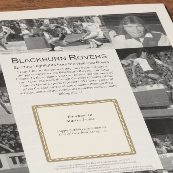 blackburn football book