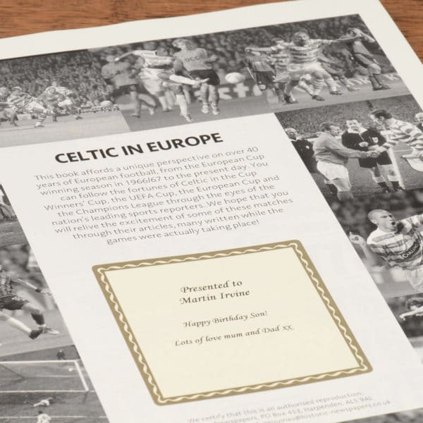 celtic in europe football book
