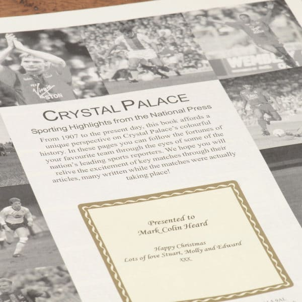 crystal palace football book