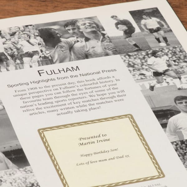 fulham football book