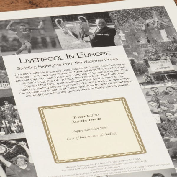 liverpool in europe football book