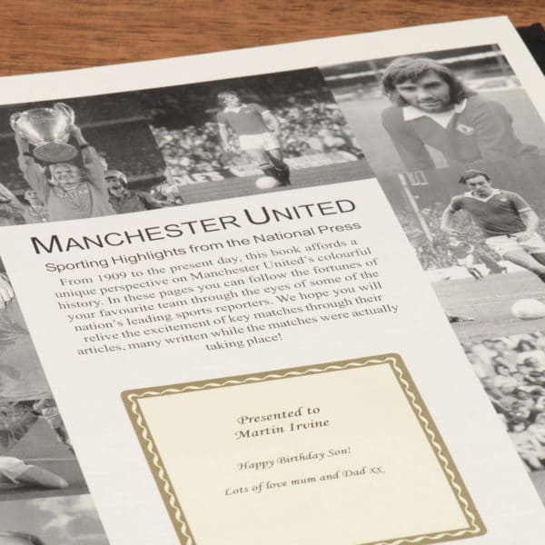 manchester united football book