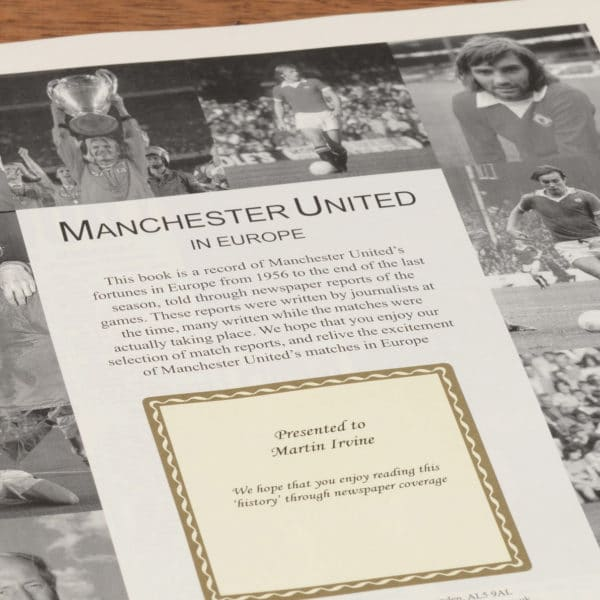 manchester united in europe football book