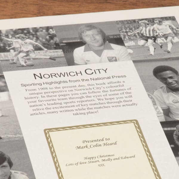 norwich city football book