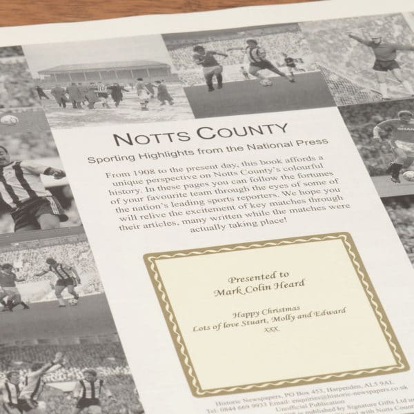 notts county football book