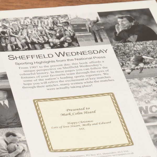 sheffield wednesday football book