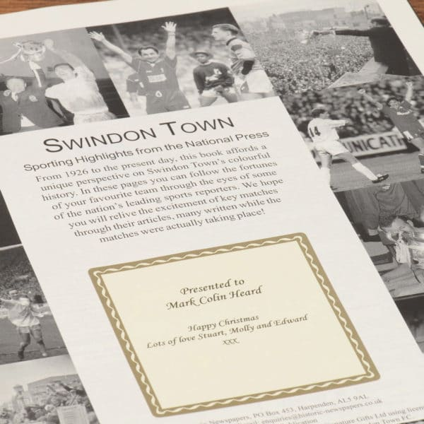 swindon town football book